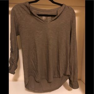LOFT gray vintage wash long sleeve T size XS